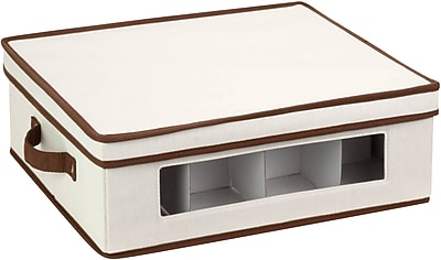 Honey Can Do Natural Canvas Large Window Storage Box, natural canvas/brown (SFT-02066)