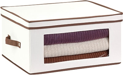 Honey Can Do Natural Canvas Large Window Storage Chest, natural canvas/brown (SFT-02067)
