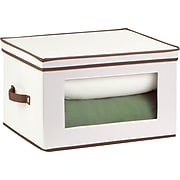 Honey Can Do Natural Canvas Tall Window Storage Chest, natural canvas/brown (SFT-02068)