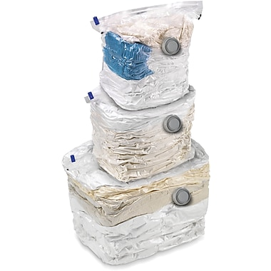 Honey Can Do 3 Pack Combo Set Vacuum Cubes, Clear (VAC-01301)