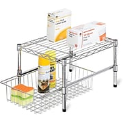Honey Can Do Adjustable Shelf with Under Cabinet Organizer