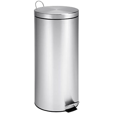 Honey Can DoMD – Poubelle ronde de 30 L (7,9 gal), acier inoxydable
