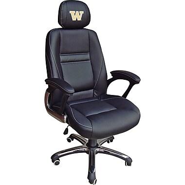 Wild Sports NCAA Leather Executive Chair, Washington Huskies
