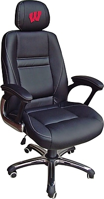 Wild Sports NCAA Leather Executive Chair, Wisconsin Badgers