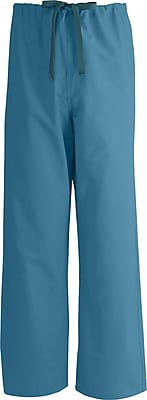 Medline AngelStat Unisex 3XL Reversible Drawstring Scrub Pants, Peacock (600NBTXXXL-CM)