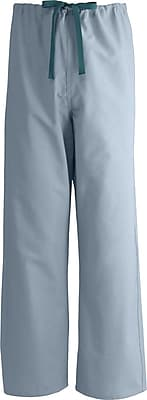 Medline AngelStat Unisex Large Reversible Drawstring Scrub Pants, Misty Green (601NTZL-CM)