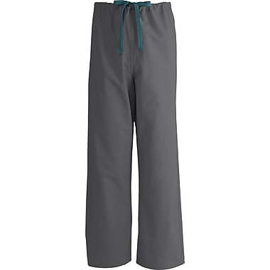 Medline AngelStat Unisex XS Reversible Drawstring Scrub Pants, Charcoal (600NCCXS-CM)