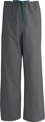Medline AngelStat Unisex Medium Reversible Drawstring Scrub Pants, Charcoal (600NCCM-CM)
