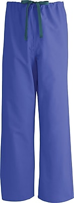 Medline AngelStat Unisex 2XL Reversible Drawstring Scrub Pants, Purple (600NRPXXL-CA)