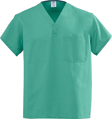 Medline AngelStat Unisex Medium Reversible V-Neck Scrub Top, Jade Green (M610NTJM-CA)