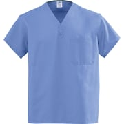 Medline AngelStat Unisex Large Reversible V-Neck Scrub Top, Ceil Blue (M610NTHL-CA)
