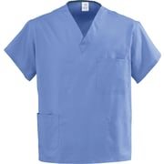 Medline AngelStat Unisex 2XL V-Neck Reversible Scrub Top, Ceil Blue (630NTHXXL-CA)