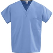 Medline Unisex Large Reversible Scrub Top, Ceil Blue (648MHSL)