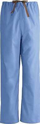 Medline Unisex Large Reversible Scrub Pants, Ceil Blue (649MHSL)