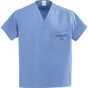Medline Unisex Large Reversible Hyperbaric Scrub Top, Ceil Blue(658MHSL-CM)