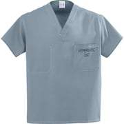 Medline Unisex Large Reversible Hyperbaric Scrub Top, Misty Green(658MZSL-CM)