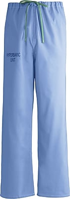 Medline Unisex Large Reversible Hyperbaric Drawstring Scrub Pants, Ceil Blue (659MHSL-CM)