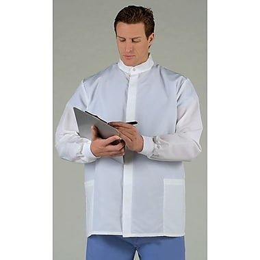 ASEP® Unisex Short Barrier Lab Coats White, Large