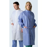 Medline ASEP Unisex Small Full Length Barrier Lab Coat, Ceil Blue (6621BLCS)