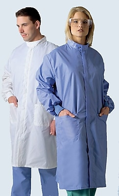 Medline ASEP Unisex 2XL Full Length Barrier Lab Coat, Ceil Blue (6621BLCXXL)