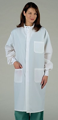 ASEP® Unisex Full Length Barrier Lab Coats, White, 2XL