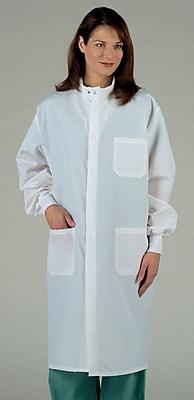 ASEP® Unisex Full Length Barrier Lab Coats, White, Small
