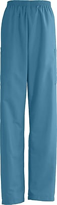 Medline AngelStat Unisex Medium Elastic Waist Cargo Scrub Pant, Peacock (674NBTML)