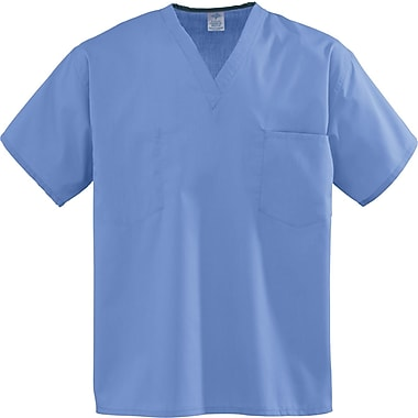 Encore™ Unisex One-pocket Rev Scrub Tops, Ceil Blue, ANG-CC, Small