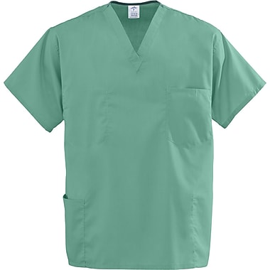 Encore™ Unisex Four-pockets Rev Scrub Tops, Jade Green, MDL-CC, 3XL