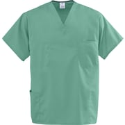 Encore™ Unisex Four-pockets Rev Scrub Tops, Jade Green, MDL-CC, XL