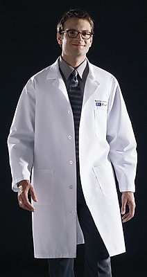 Medline Unisex XL Knee-Length Lab Coat, Light Blue (83044RCWXL)