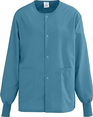 Medline AngelStat Unisex XL Snap-Front Warm-Up Scrub Jacket, Peacock (849NBTXL)