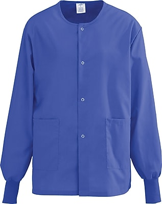 Medline AngelStat Unisex XL Snap-Front Warm-Up Scrub Jacket, Regal Purple (849NRPXL)