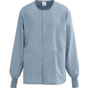 Medline AngelStat Unisex 2XL Snap-Front Warm-Up Scrub Jacket, Misty Green (849NTZXXL)