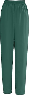 Medline AngelStat Women Small Elastic with Draw Cord Scrub Pant, Hunter Green (854NHGS)