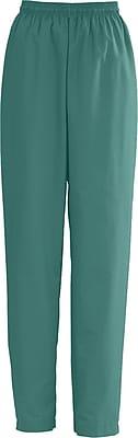 Medline AngelStat Women Medium Elastic with Draw Cord Scrub Pant, Emerald (854NJTM)