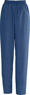 Medline AngelStat Women Large Elastic with Draw Cord Scrub Pant, Navy Blue (854NNTL)