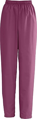 Medline AngelStat Women Medium Elastic with Draw Cord Scrub Pant, Raspberry (854NTRM)