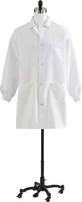 Medline Unisex 3XL Knit Cuff Staff Length Lab Coat, White (87050QHWXXXL)