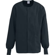 Medline ComfortEase Unisex 4XL Warm-Up Scrub Jacket, Black (8832DKW4XL)