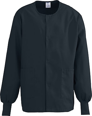 Medline ComfortEase Unisex Medium Warm-Up Scrub Jacket, Black (8832DKWM)