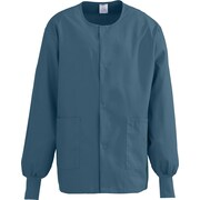 Medline ComfortEase Unisex Small Warm-Up Scrub Jacket, Caribbean (8832JCBS)