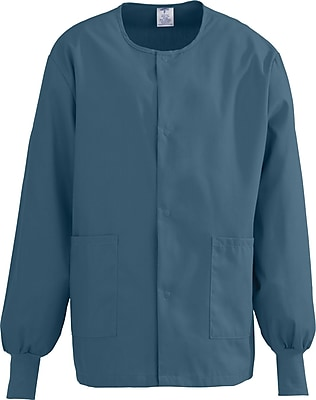 Medline ComfortEase Unisex 3XL Warm-Up Scrub Jacket, Caribbean (8832JCBXXXL)