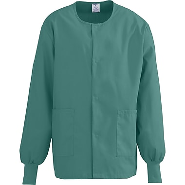 Medline ComfortEase Unisex Small Warm-Up Scrub Jacket, Evergreen (8832JEGS)