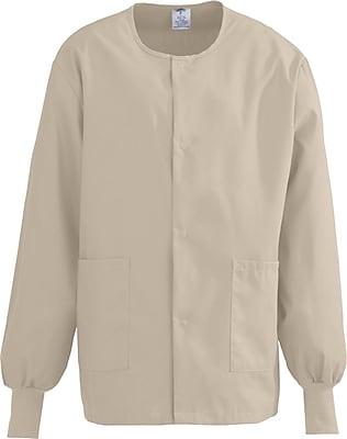 Medline ComfortEase Unisex Large Warm-Up Scrub Jacket, Khaki (8832JKKL)