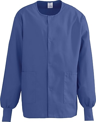 Medline ComfortEase Unisex 2XL Warm-Up Scrub Jacket, Mariner Blue (8832JMBXXL)