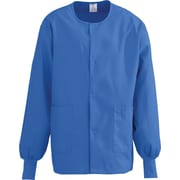 Medline ComfortEase Unisex XL Warm-Up Scrub Jacket, Royal Blue (8832JRLXL)