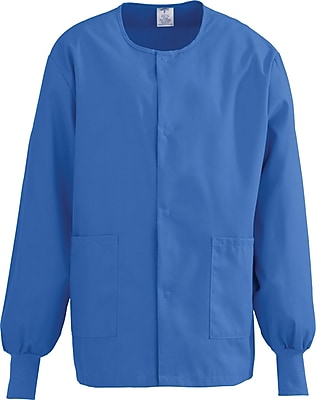 Medline ComfortEase Unisex XS Warm-Up Scrub Jacket, Royal Blue (8832JRLXS)