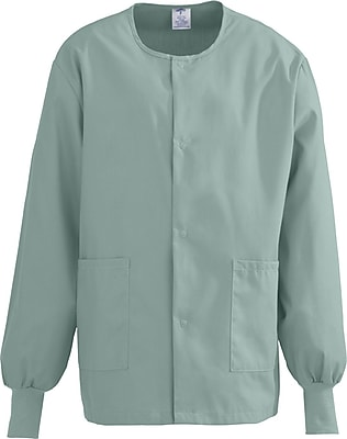 Medline ComfortEase Unisex XL Warm-Up Scrub Jacket, Seaspray (8832JSSXL)