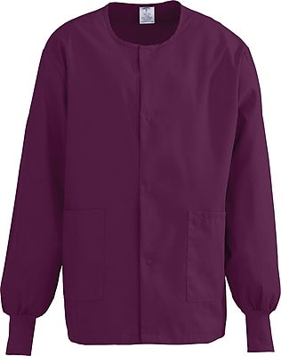 Medline ComfortEase Unisex XS Warm-Up Scrub Jacket, Wine (8832JWNXS)